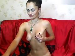 Naked housewife AelitaLuv in front of webcam
