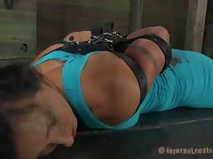 BDSM treatment for a gorgeous brunette's lovely body