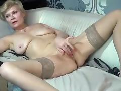 Blonde, Blonde, Kinky, Masturbation, Mature, Stockings