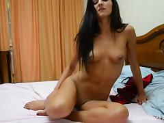 Kinky clothes go down and the masturbation begins!
