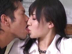 Horny Azusa Nagasawa loves fucking in threesome