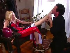 Blond Ava Vincent Demands Sensual Foot Worship From Her Stud
