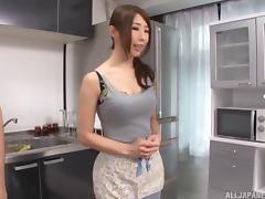 Kitchen, Asian, Blowjob, Fetish, Fingering, Gangbang