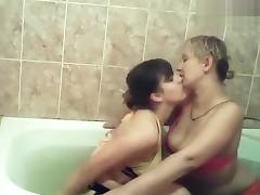 Bathing, Amateur, Bath, Bathing, Bathroom, Lesbian