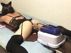 Machine fuck handsfree orgasm