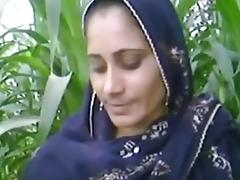 Village aunty in fields