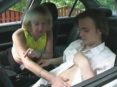Car, Car, Mature, Old, Russian, Seduction