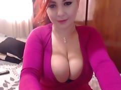 Sexxy Redhead Strips & Toys Pussy On Cam