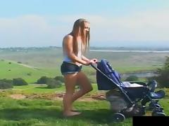 Teen tries to do some outdoors anal riding and she succeeds!