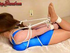 Terra Mizu Hogtied in her Swimsuit