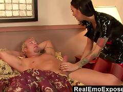 RealEmoExposed  Angelina wakes bf with wild sex fantasy