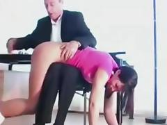 Angie gets her 1st spanking
