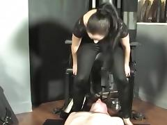 Sitting on the face