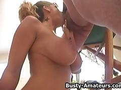 Titty Fuck, Amateur, Big Tits, Blowjob, Boobs, Fucking