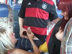 Bus, Amateur, Bus, German, MILF, Redhead