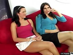 Randy man is glad to make a couple of ladies moan in pleasure