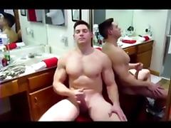 Big dick muscle solider gets serviced ( blowjob jo   cum )