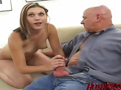 Riley auditions for porn, by sucking and fucking on camera!