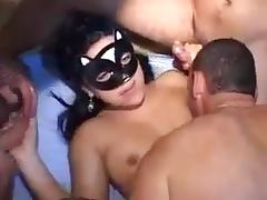 Gang bang with that my wife s slut girlfriend jinny