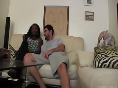 Cute ebony chick gets naked cause she's more than ready to get screwed