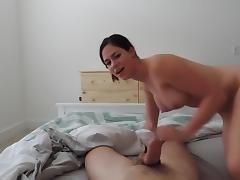 Hot girlfriend sucking and riding pov