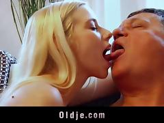Superb babes in hot old young threesome fucking old man sexy