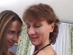 Mom and Girl, Big Clit, Big Tits, Lesbian, Mature, Old