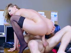 Busty secertary jaw dropping office hardcore with the boss