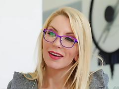 Ashely Fiers wears glasses while being fucked by her lover