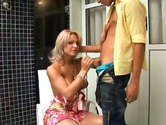 Carla Renata seduces a fortunate guy for a kinky sex session
