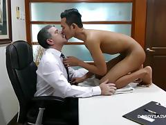 Dad, Asian, Fucking, Gay, Rough, Old and Young