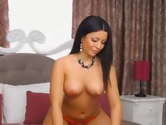 Hot Milf getting naked for us on cam and fingering her wet pussy