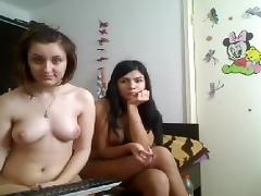 There are two hot naked chicks on webcam