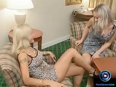 Sexy Betty Dark and Sylvie Taylor fucked in all holes