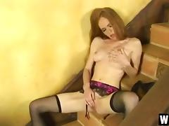 Shy Coed Heather Teases Her Hot Pussy