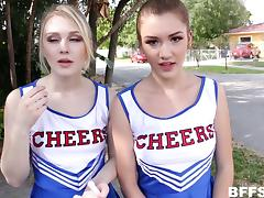 Cheerleader, Audition, Casting, Cheerleader, Foursome, Group