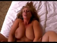 Big ass blonde in jeans takes anal pounding