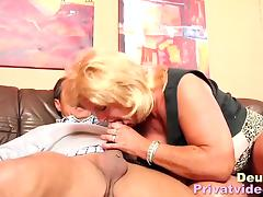 Big breasted German mamma pleased