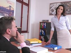 Boss, Babe, Blowjob, Boss, Brunette, Office