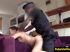 Cheating wife analfucked by fake british cop