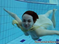 Underwater, Big Tits, College, Redhead, Softcore, Underwater