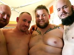 Big Bear Group Fuck - HairyAndRaw