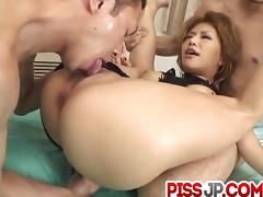 Impressive pussy pounding with Akane Hotaru