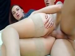Bitch with bigass and hips gets analed on webcam