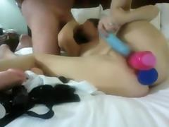 Exotic Homemade record with Anal, Toys scenes