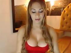 Beautiful shemale masturbation