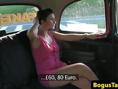Real euro taxi babe throating cabdrivers cock