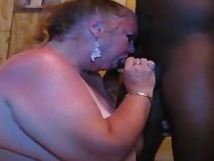 White slutty granny face drilled & eats cum - CassianoBR