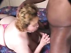 Amateur venerable performing Interracial with two men