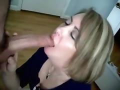 Lipstick, Blonde, Blowjob, Couple, Lipstick, MILF